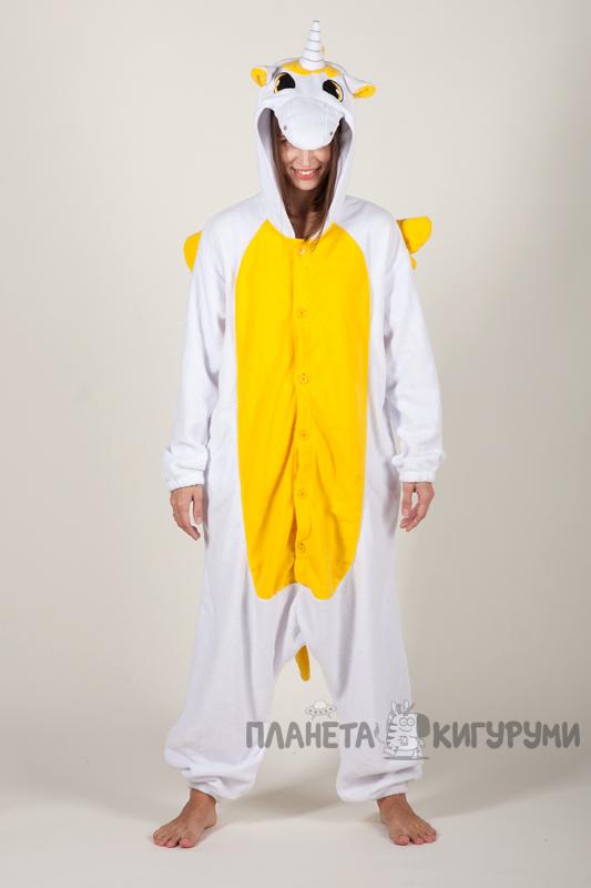 bda7461519a7 Кигуруми Пегас Единорог желтый - купить пижаму Пегас Единорог желтый ...