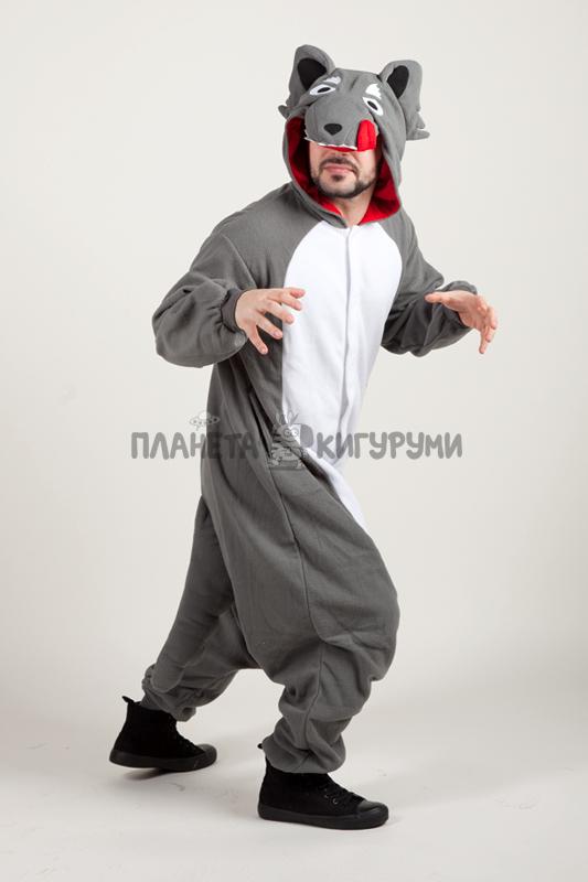 Кигуруми Серый волк - купить пижаму кигуруми Волк в интернет-магазине faa6cd177d8da